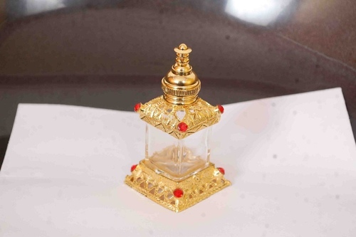 Decorated Attar Glass Bottle