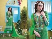 Green Rivaa Printed & Embroidered Salwar Kameez