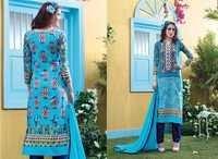 Blue Rivaa Printed & Embroidered Salwar Kameez