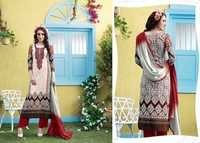 Creamy red  Rivaa Printed & Embroidered Salwar Kameez