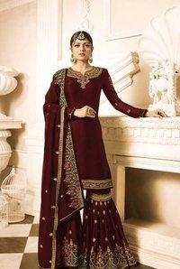 Fashionable Sky Designer Anarkali Suits
