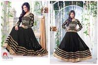 Latest Heavy Designer Black Anarkali Suits
