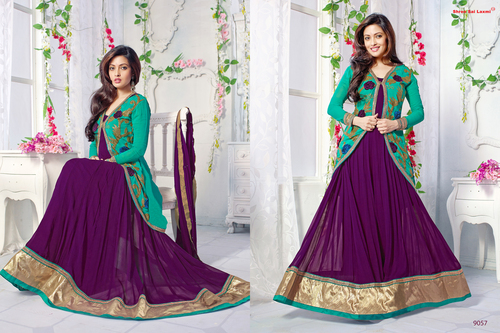 Latest Heavy Designer Purple Anarkali Suits
