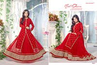 Heavy Designer Red Anarkali Suits