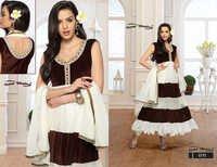 Latest Designer White & Brown Anarkali Suits