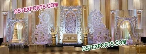 Modern Wedding Stage Backdrop Decoration
