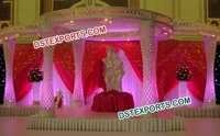 Modern Wedding Crystal Mandap Set