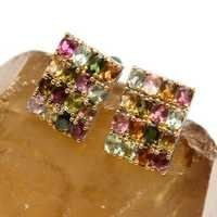 Multi Tourmaline Gemstone  Mens Cufflinks