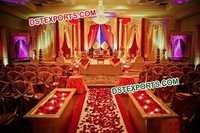 Traditional Indian Wedding Gold Stage