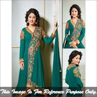 Dark Aqua Long Anarkali Suit