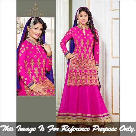 New Style Heenakhan Pink Lehenga Suit