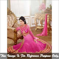 Pink Long Anarkali Suit