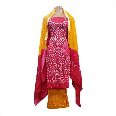 Bandhej Cotton 3Pcs Dress Materials