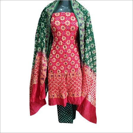 Cotton Gadwal Dress Material