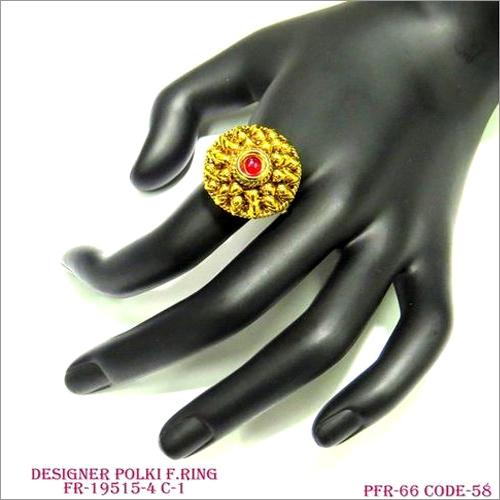 Designer Polki Finger Ring