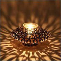 Flower Disk Candle Holder