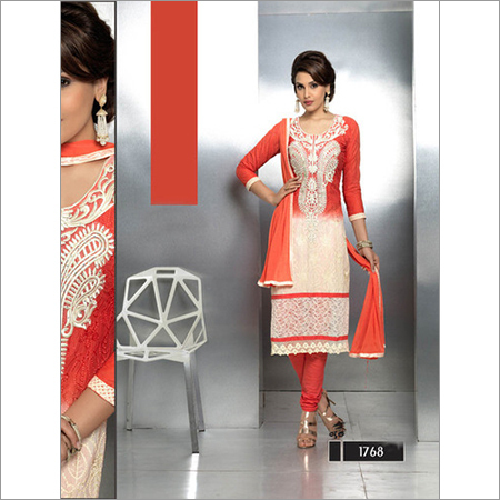 Thankar Latest Embroidered Designer Orange straightSuits