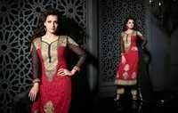 Reddy Black Embroidered Georgette Suit By Diya Mirza