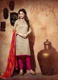 Pink Chanderi Silk Suit
