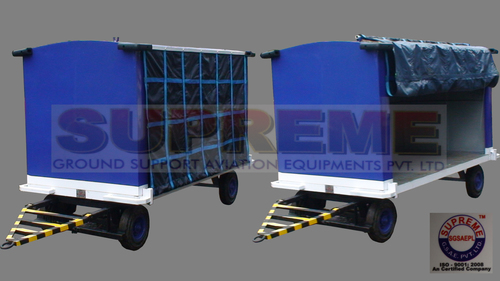 Close Curtain Baggage Trolley