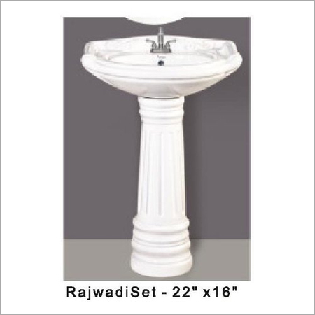 Rajwadi Set Pedestal Wash Basin 22