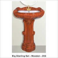 Big Sterling Wooden Wash Basin 203