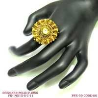 DESIGNER POLKI FINGER RING