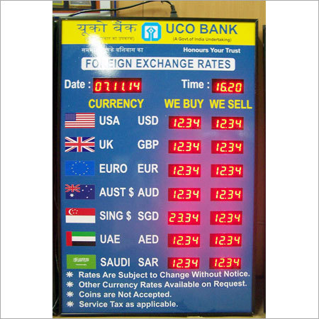 Rate Display Board
