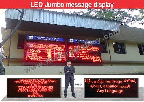 Multilingual LED Display Board