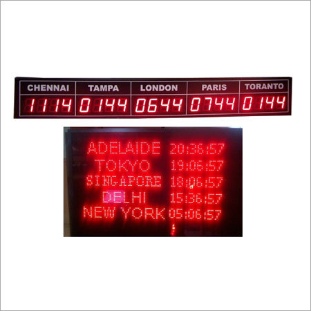 World Time Clock LED Display