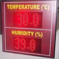 LED Temperature Humidity Display Board