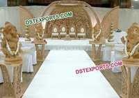 Wedding Heavy Hand Carved Wooden Mandap
