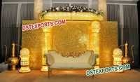 ASIAN WEDDING BEAUTIFUL GOLD STAGE