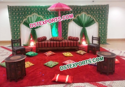 Muslim Wedding Stage Embrodried Backdrop