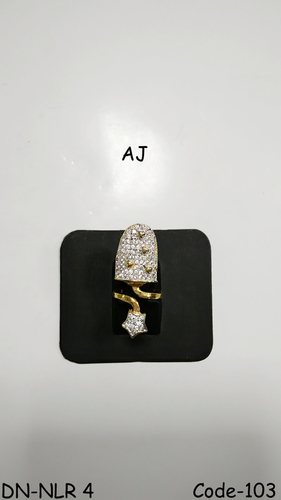 Studded Diamond Nail Ring