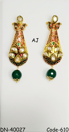 Kundan Earrings with Antique Finish