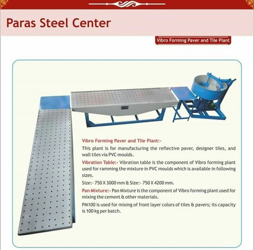 Vibro Forming Paver and Tile Plant