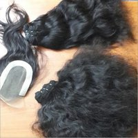 Human Hair Lace Closures and Machine wefts