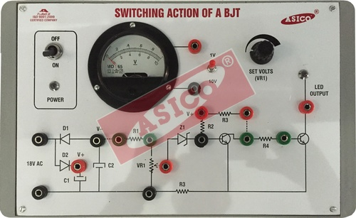 Study of Switching action of a Transistor (BJT)