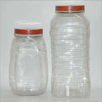 Transparent Plastic Pet Jar