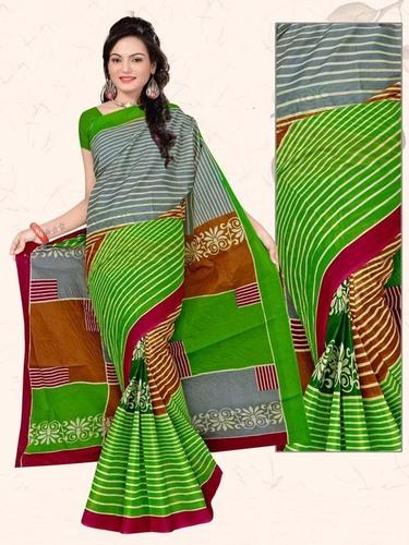 Light Green Cotton Saree