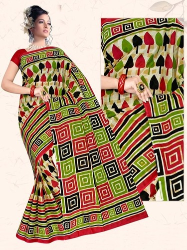 Multi Desing Cotton Saree