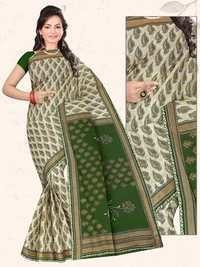 Green Designer Cotton Saree