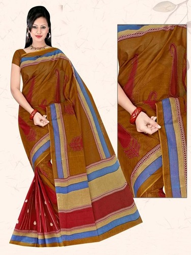 Coffe Cotton Saree