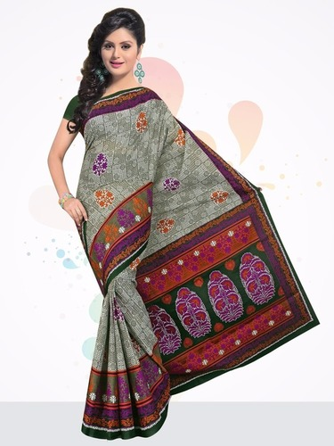 Cotton Printed Saree In Jetpur