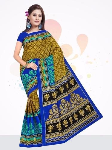 New Printed Cotton Saree in Jetpur