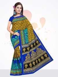 New Printed Cotton Saree in Jetpur