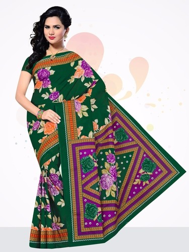 Manyta Green Cotton Saree