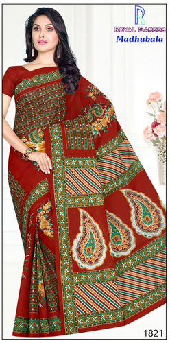 Madhubala Cotton Printed Saree