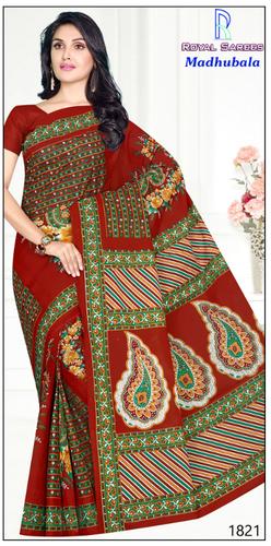 Madhubala Cotton Printed Saree